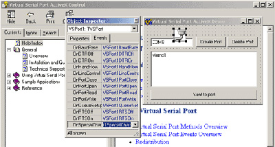 Create virtual serial port directly from your application and work with it
